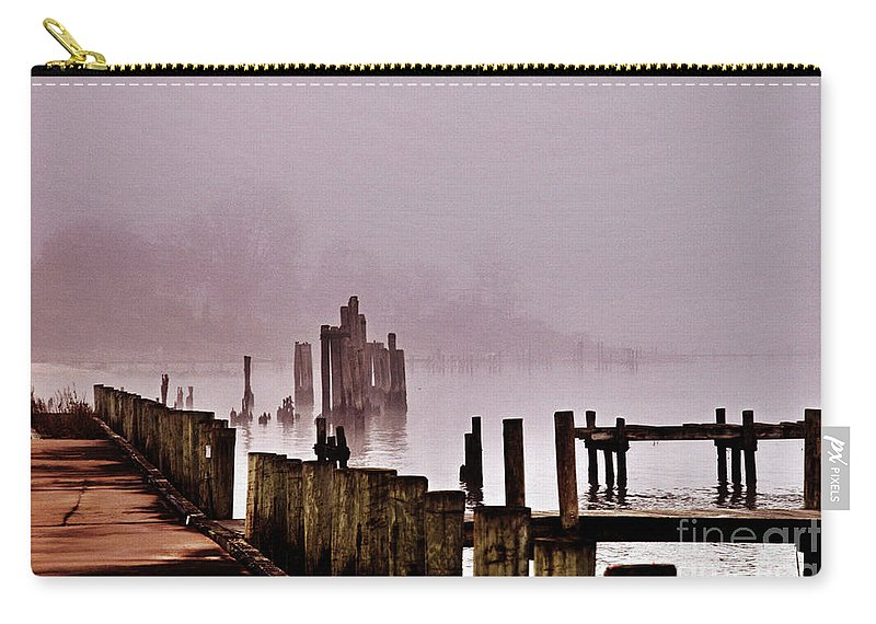 Clay Carry-all Pouch featuring the photograph Foggy Morn by Clayton Bruster