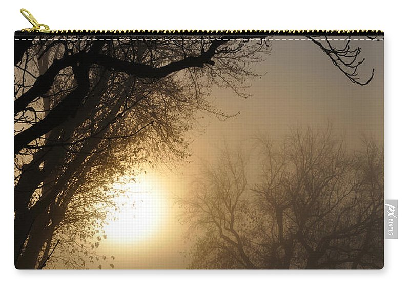 Foggy Carry-all Pouch featuring the photograph Foggy Morn by Tim Nyberg