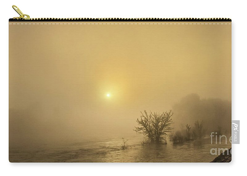 Idaho Carry-all Pouch featuring the photograph Foggy Morning On The Payette River by Robert Bales
