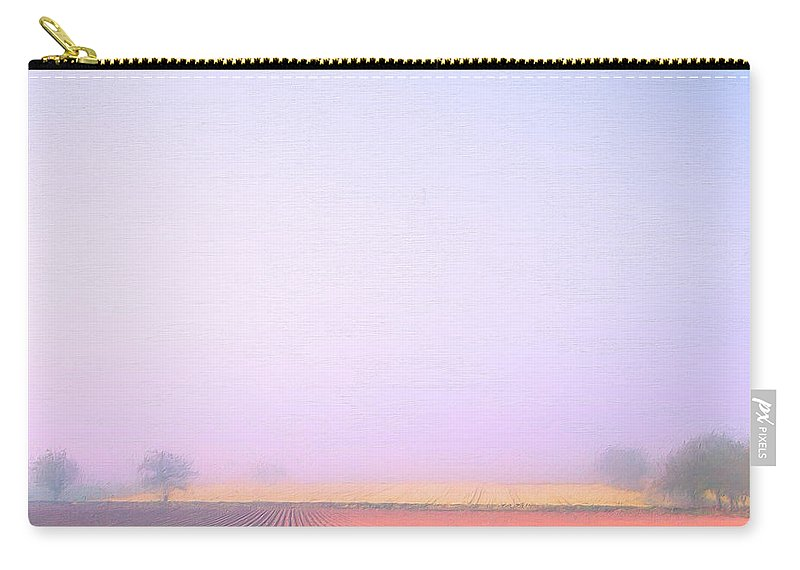 Italy Carry-all Pouch featuring the painting Foggy Morning Tuscany by Dominic Piperata
