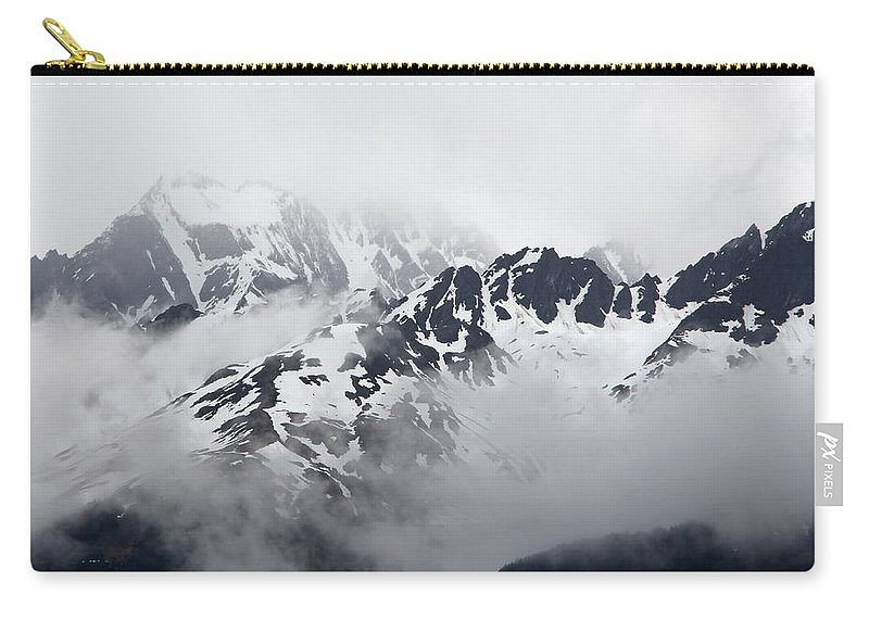 Alaska Carry-all Pouch featuring the photograph Foggy Mountains by Sierra Vance