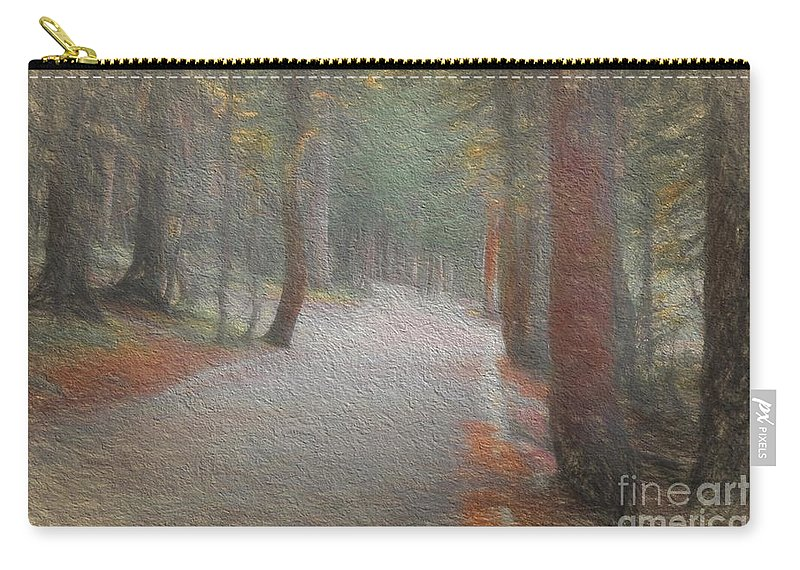 Foggy Trail Carry-all Pouch featuring the photograph Foggy Trail Near Bear Lake by Jon Burch Photography