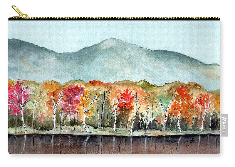 Watercolor Carry-all Pouch featuring the painting Foliage by Brenda Owen