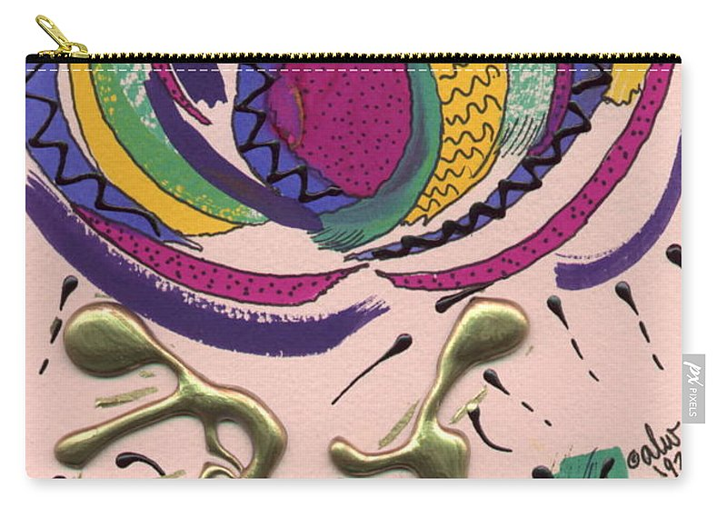 Abstract Carry-all Pouch featuring the mixed media Follow Me by Angela L Walker