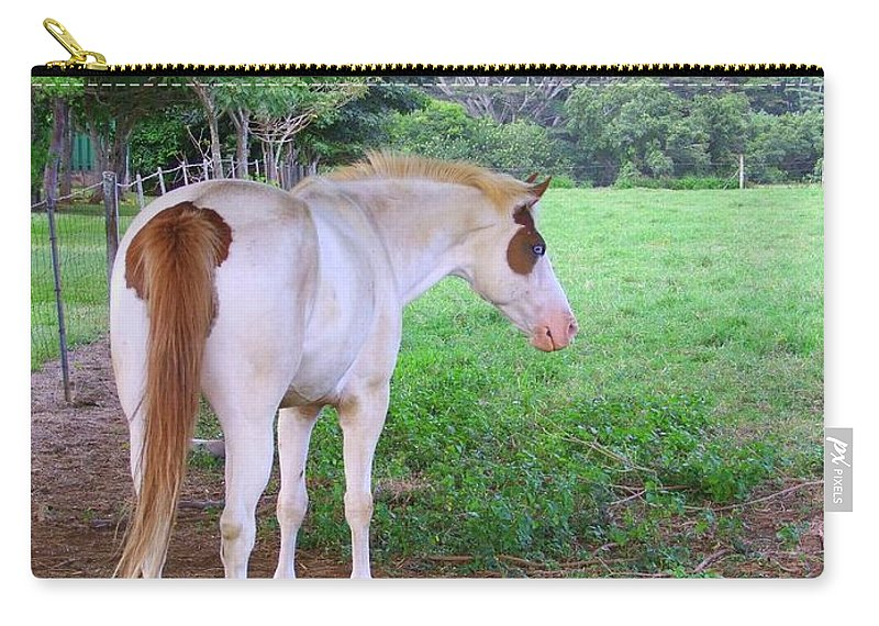 White Horse Carry-all Pouch featuring the photograph Follow Me by Mary Deal