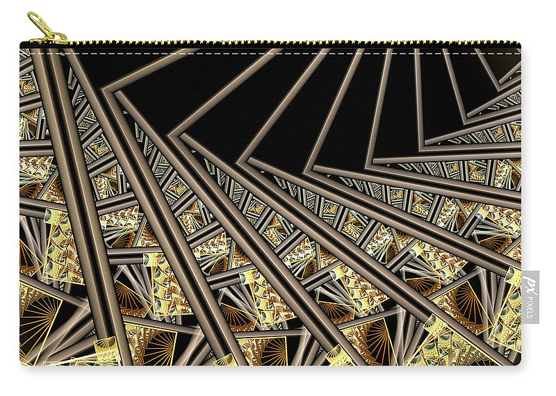 Fractal Art Carry-all Pouch featuring the digital art Follow The Sunrays by Amorina Ashton