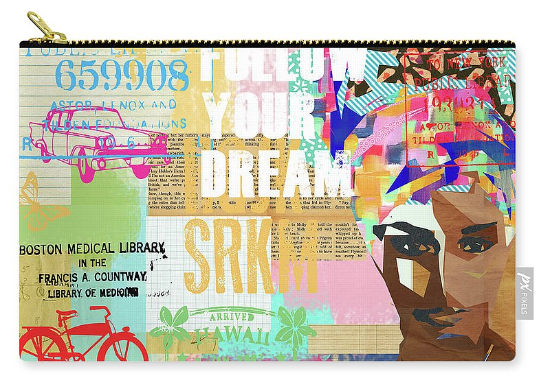 Follow Your Dream Carry-all Pouch featuring the mixed media Follow Your Dream Collage by Claudia Schoen