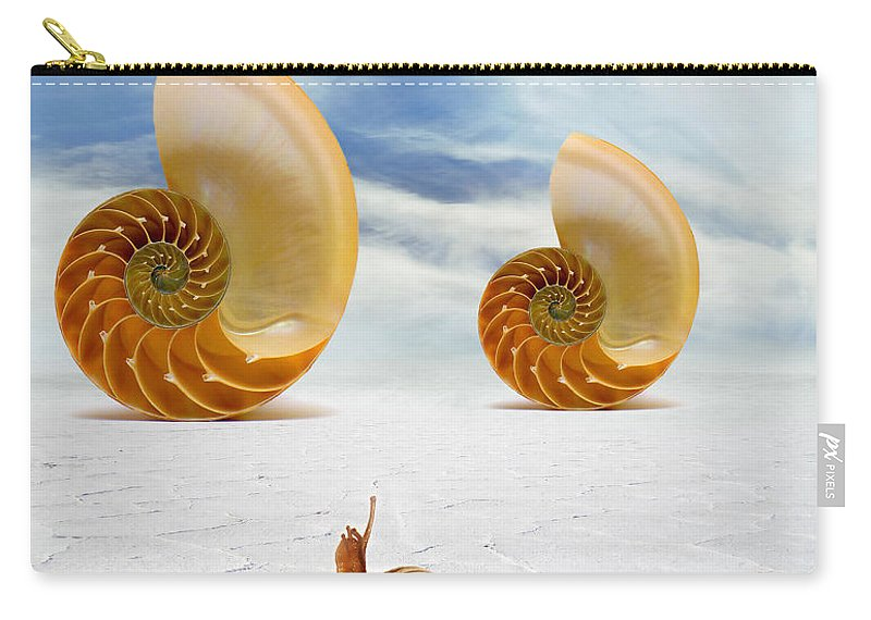 Photodream Art Carry-all Pouch featuring the digital art Follow Your Dreams by Jacky Gerritsen