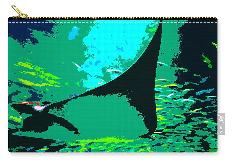 Ray Carry-all Pouch featuring the painting Following The Great Ray by David Lee Thompson