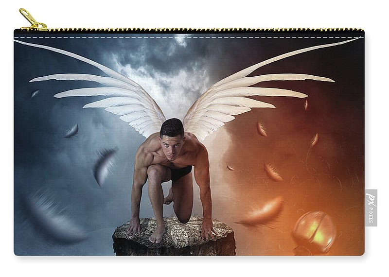 Mysterious Carry-all Pouch featuring the photograph Following The Lights by Mark Ashkenazi