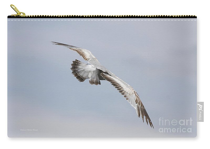 Seagull Carry-all Pouch featuring the photograph Following The Seagull by Deborah Benoit