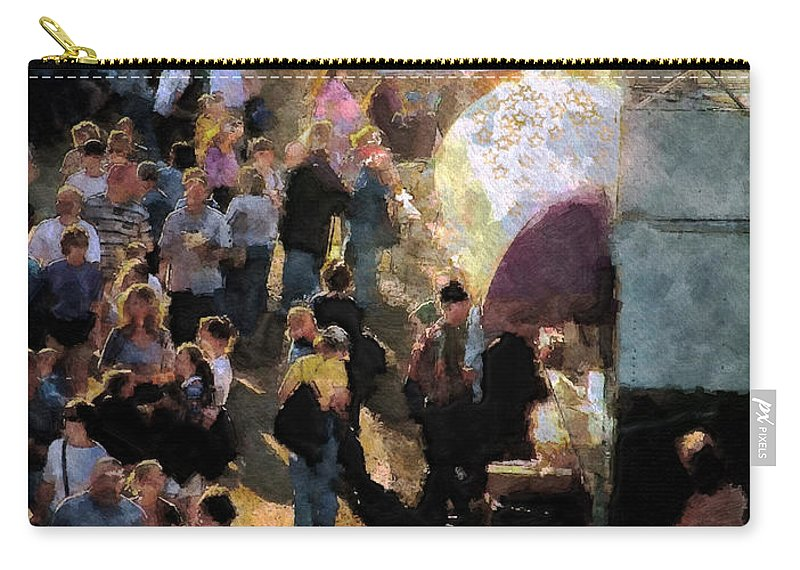 Americana Carry-all Pouch featuring the painting Food Alley At The Country Fair by RC DeWinter