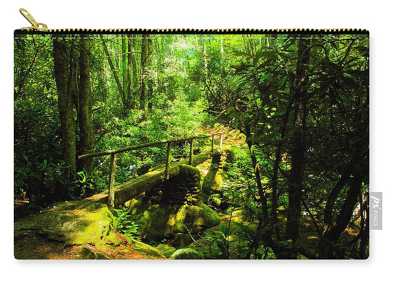 Art Carry-all Pouch featuring the painting Foot Bridge by David Lee Thompson