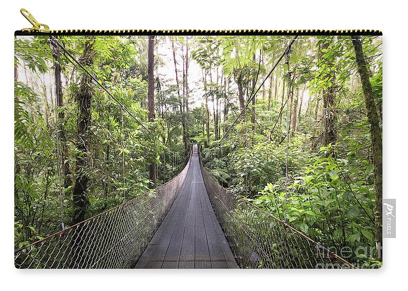 Surat Carry-all Pouch featuring the photograph Foot Bridge In Costa Rica by Linda D Lester