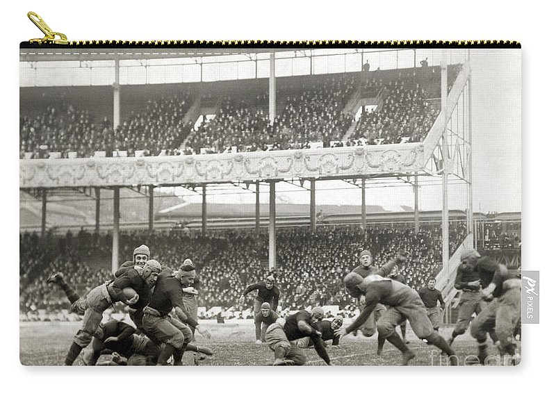 1916 Carry-all Pouch featuring the photograph Football Game, 1916 by Granger