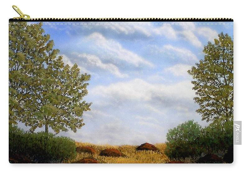 Landscape Carry-all Pouch featuring the painting Foothills Afternoon by Frank Wilson