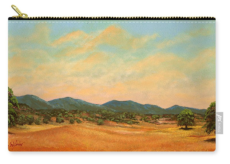Landscape Carry-all Pouch featuring the painting Foothills by Frank Wilson