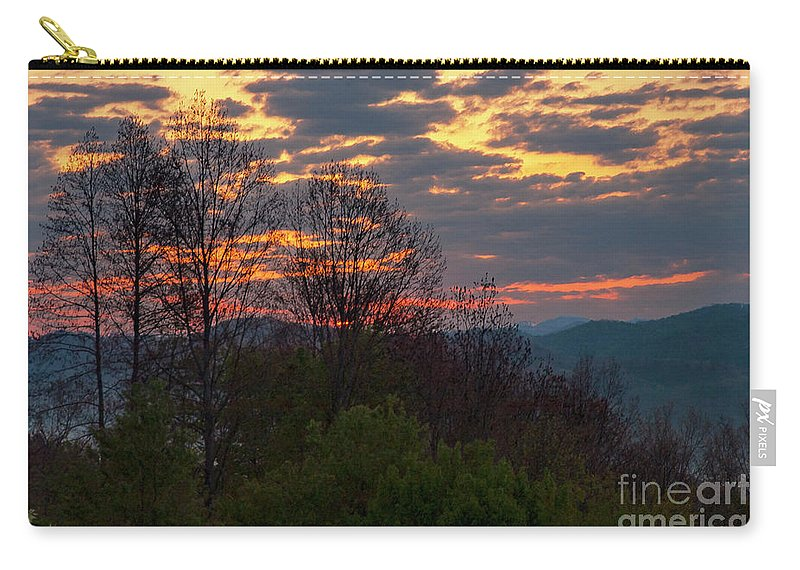 Foothills Parkway Carry-all Pouch featuring the photograph Foothills Parkway Dawn by Bob Phillips