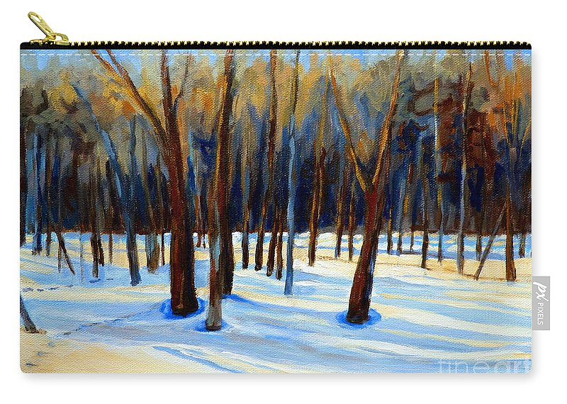 Beautiful Winter Carry-all Pouch featuring the painting Footprints by Carole Spandau
