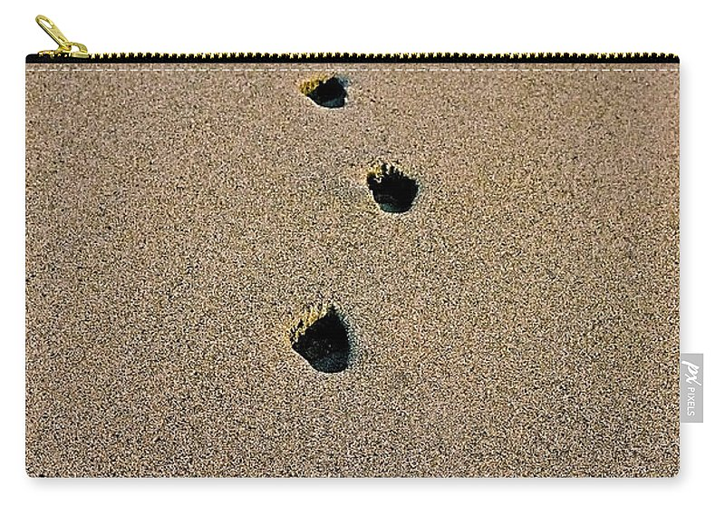 Pacific Carry-all Pouch featuring the photograph Footprints In The Sand ... by Juergen Weiss
