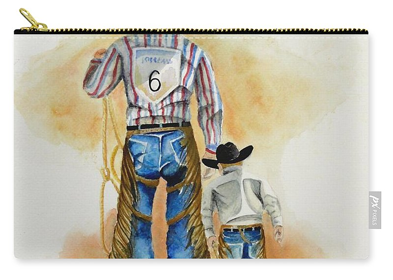 Bull Carry-all Pouch featuring the painting Footsteps by Jimmy Smith