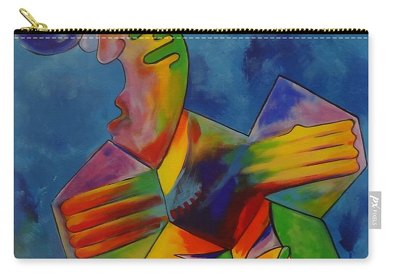 Footy Carry-all Pouch featuring the painting Footy by Eduard Meinema
