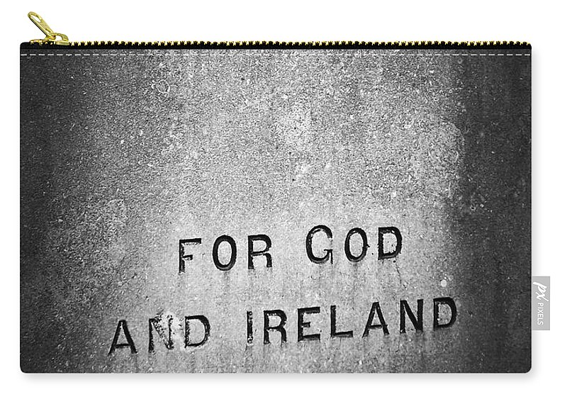 Irish Carry-all Pouch featuring the photograph For God And Ireland Macroom Ireland by Teresa Mucha