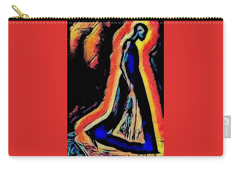 Digital Carry-all Pouch featuring the digital art For I Walk Alone by Paris k Edwards