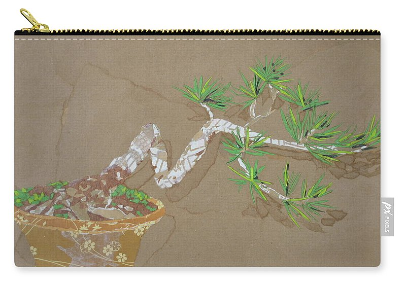 Banzai Tree Carry-all Pouch featuring the painting For Inge by Leah Tomaino