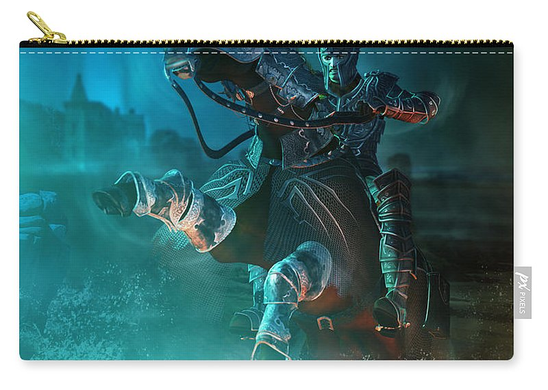 Man Carry-all Pouch featuring the digital art For King And Country by Karen Koski