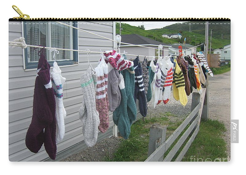 Knitted Socks Newfoundland Carry-all Pouch featuring the photograph For Sale by Seon-Jeong Kim
