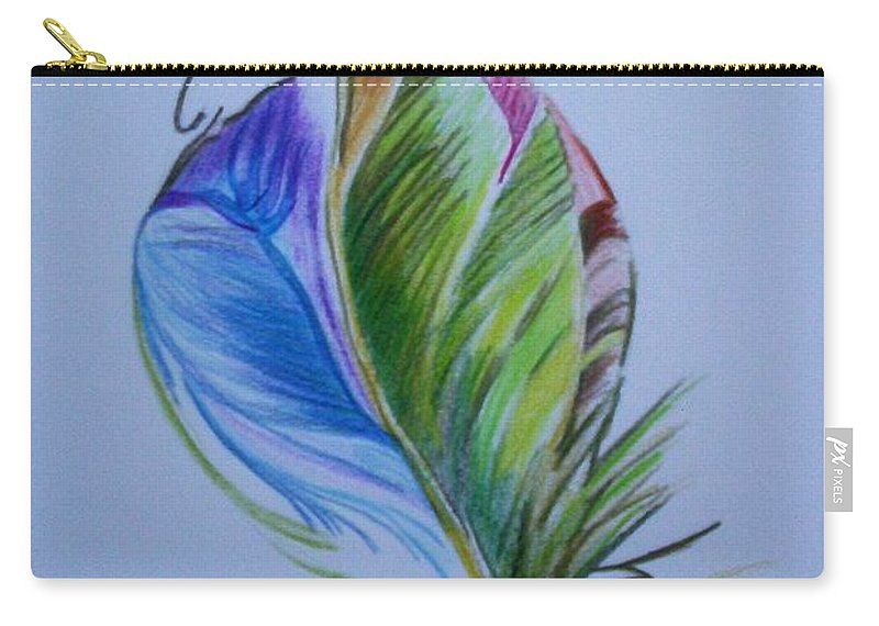Abstract Carry-all Pouch featuring the drawing For Starters by Suzanne Udell Levinger