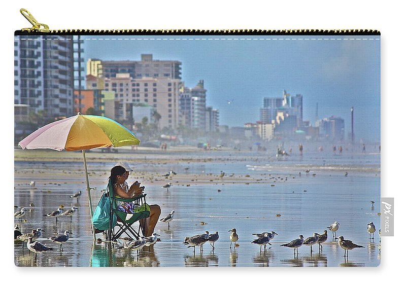 Birds Carry-all Pouch featuring the photograph For The Birds by Diana Hatcher
