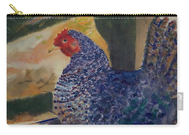 Animal Carry-all Pouch featuring the painting For The Birds by Paula Emery