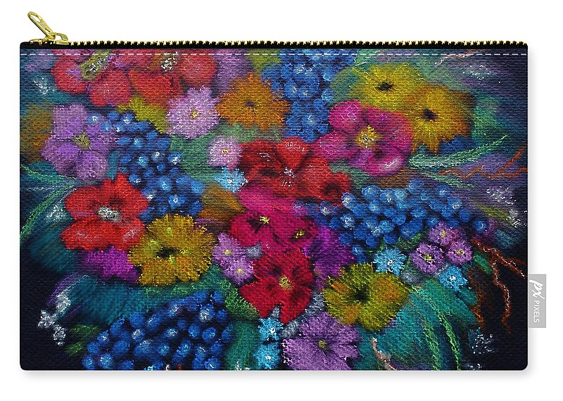 Flowers Carry-all Pouch featuring the painting For You In Love by Barbara Teller