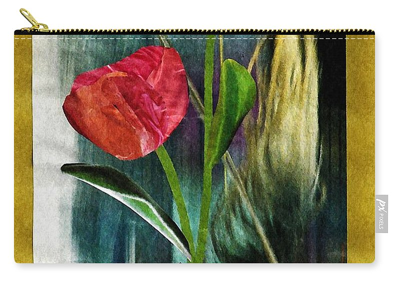 Hand Carry-all Pouch featuring the mixed media For You by Sarah Loft