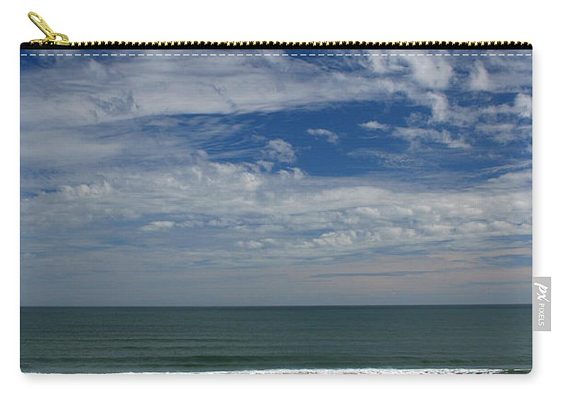 Beach Sky Cloud Clouds Blue Water Wave Waves Palmtree Tree Palm Sand Sun Sunny Vacation Travel Carry-all Pouch featuring the photograph For Your Pleasure by Andrei Shliakhau