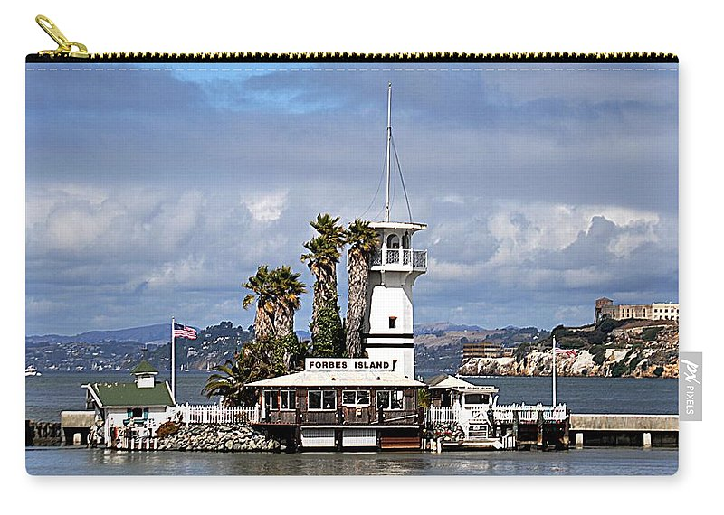 Forbes Island Carry-all Pouch featuring the photograph Forbes Island by John Hughes