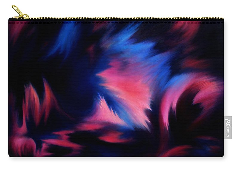Abstract Carry-all Pouch featuring the painting Forbidden Words by Rachel Christine Nowicki