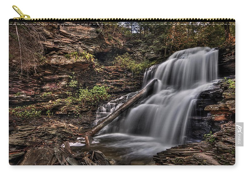 Fall Carry-all Pouch featuring the photograph Forces Of Nature by Evelina Kremsdorf