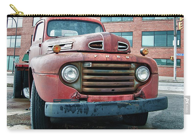 Antique Car Carry-all Pouch featuring the photograph Ford 4625 by Guy Whiteley