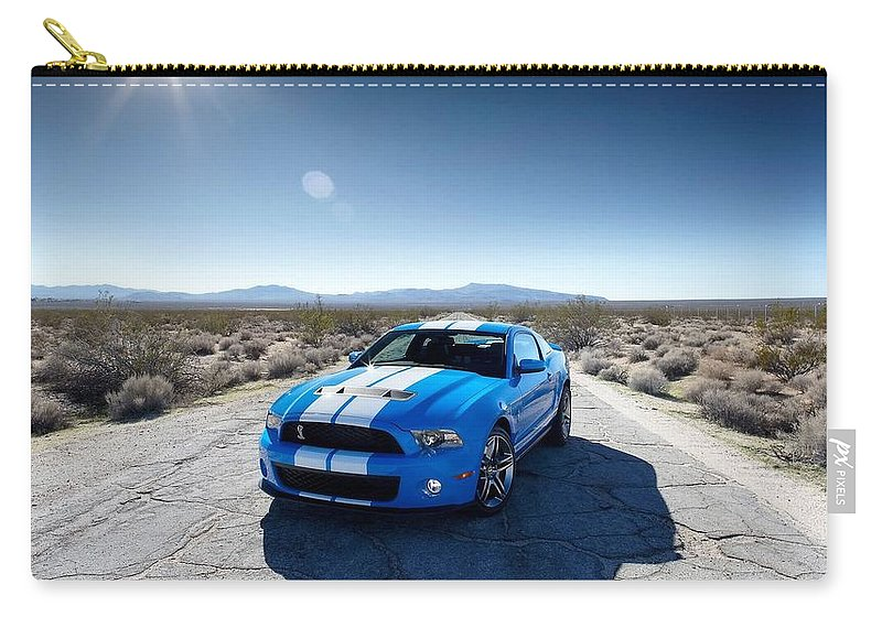 Ford Mustang Carry-all Pouch featuring the photograph Ford Mustang by Jackie Russo