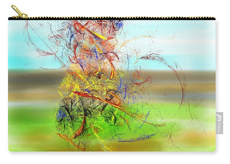 Digital Painting Carry-all Pouch featuring the digital art Fore by David Lane