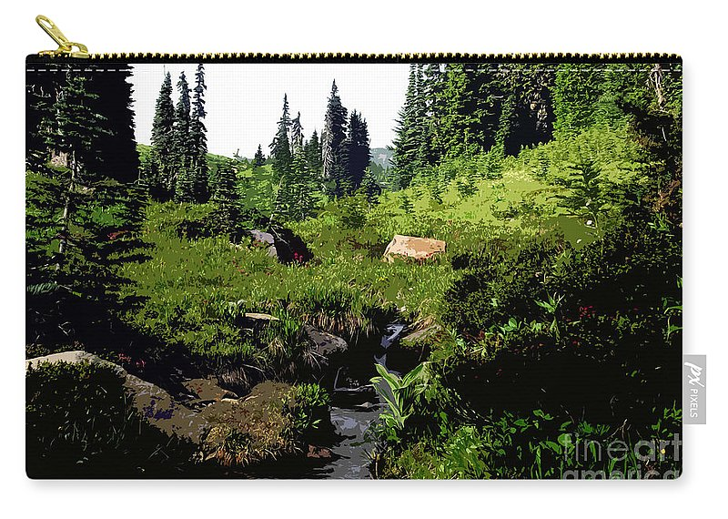 Forest Carry-all Pouch featuring the painting Forest by David Lee Thompson