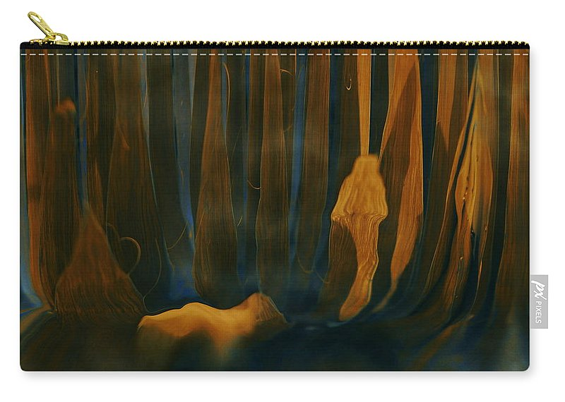 Forest Dreams Carry-all Pouch featuring the digital art Forest Dreams by Linda Sannuti