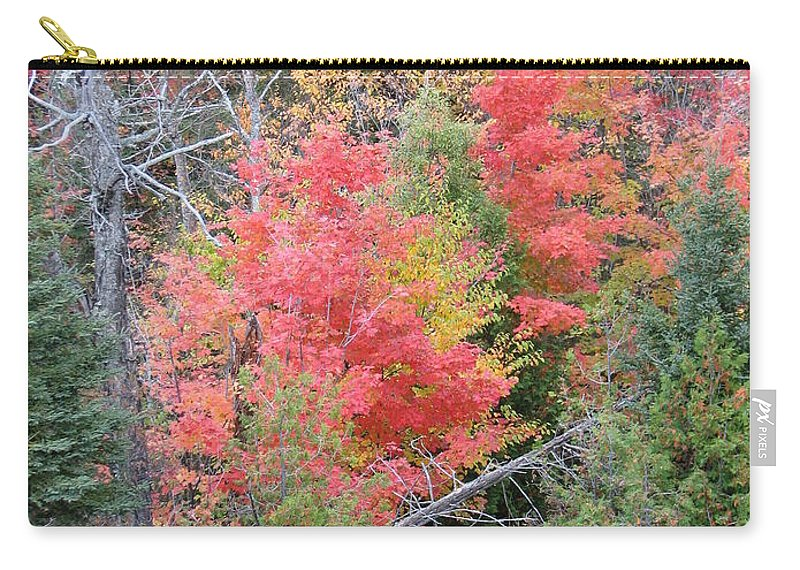 Fall Carry-all Pouch featuring the photograph Forest Fire by Kelly Mezzapelle