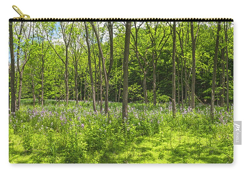 Wildflowers Carry-all Pouch featuring the photograph Forest Floor Dame's Rocket by Angelo Marcialis Melody Of Light Photography