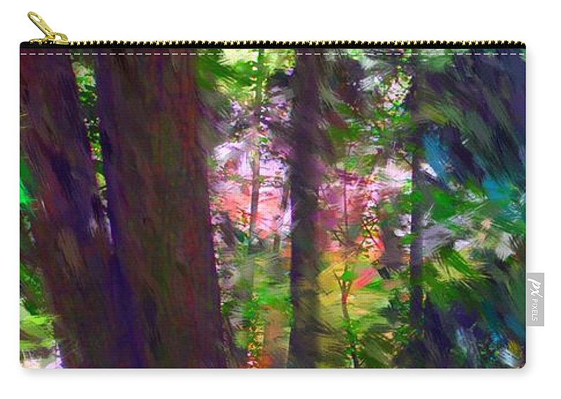 Digital Photography Carry-all Pouch featuring the digital art Forest For The Trees by David Lane