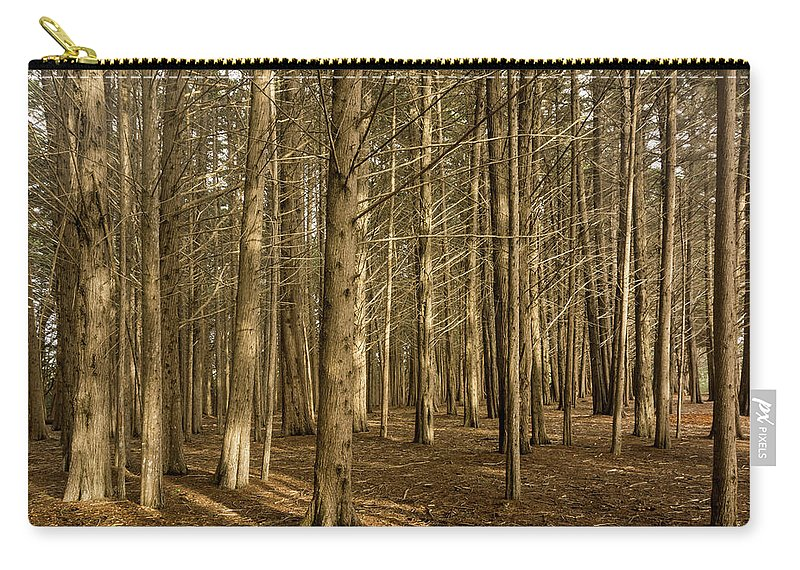 Landscape Carry-all Pouch featuring the pyrography Forest by Javier Flores