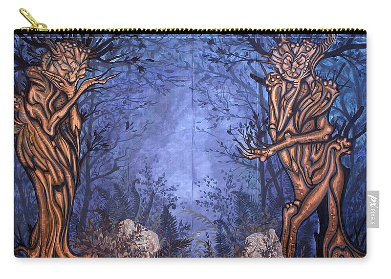Mystic Carry-all Pouch featuring the painting Forest by Judy Henninger